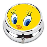 Tweety Bird Custom Fashion Pill Box Medicine Tablet Holder Organizer Case for Pocket or Purse