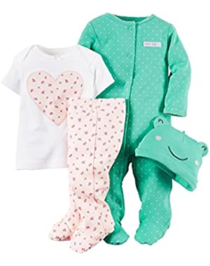 Baby Girls' 4 Piece Layette Set (Baby)