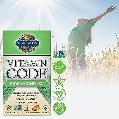 Garden of Life B Vitamin - Vitamin Code Raw B Complex Whole Food Supplement, Vegan, 60 Capsules