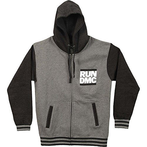 Run DMC Men's Logo Varsity Jacket XX-Large Grey by Unknown