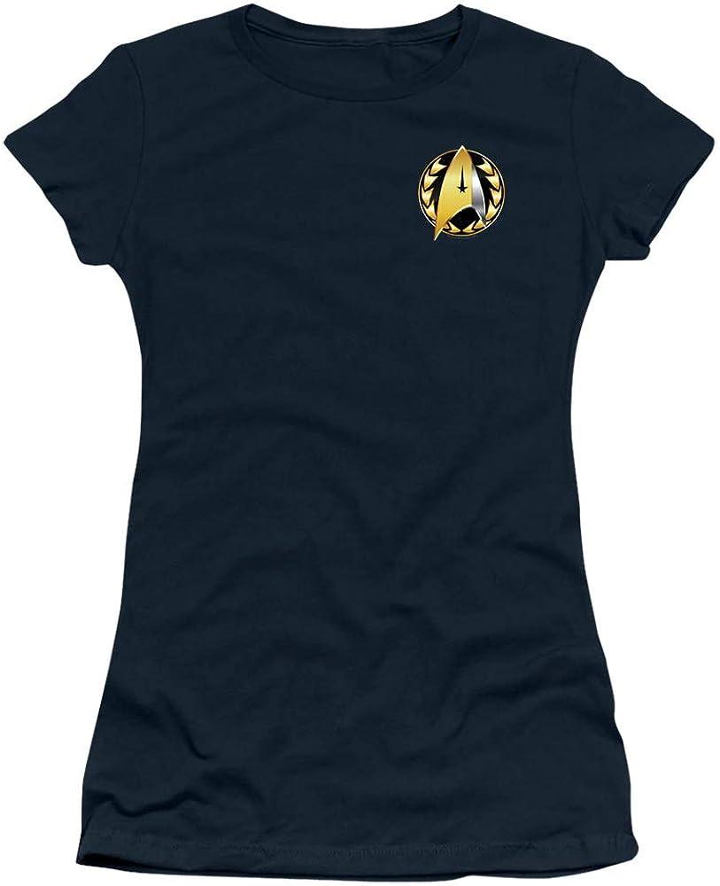 A&E Designs Star Trek Juniors T-Shirt Discovery Admiral Badge Navy Tee