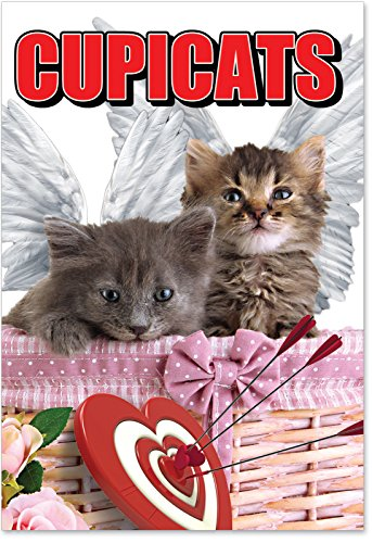 "2172 'Cupicats' - Funny Valentine's Day Greeting Card with 5"" x 7"" Envelope by NobleWorks"