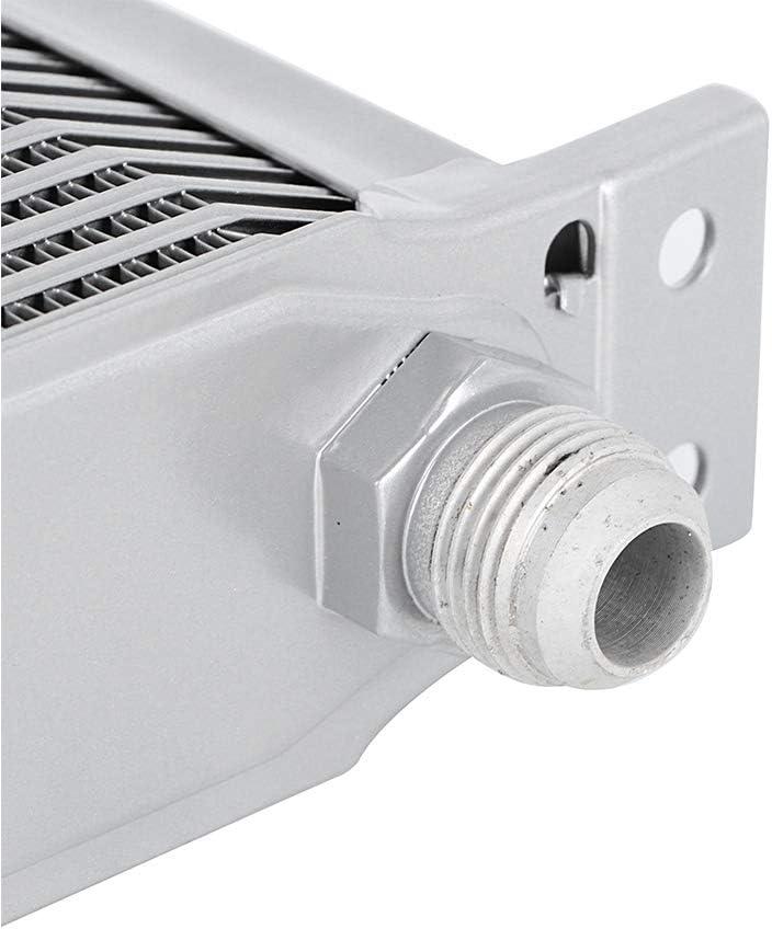 Radiador de aceite Suuonee reemplazo de accesorio modificado universal del radiador del enfriador de aceite del motor de 10 filas