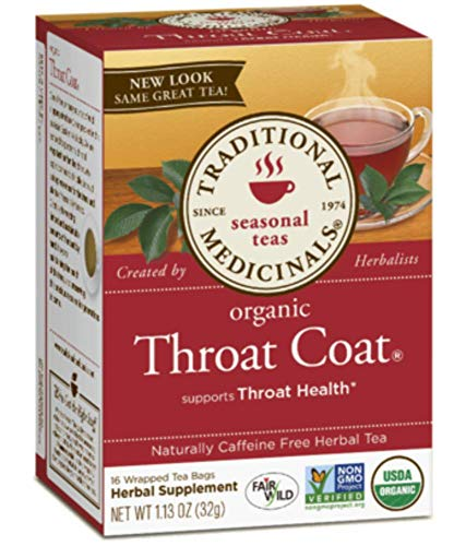 Traditional Medicinals, Organic Throat Coat Tea, 16 ct