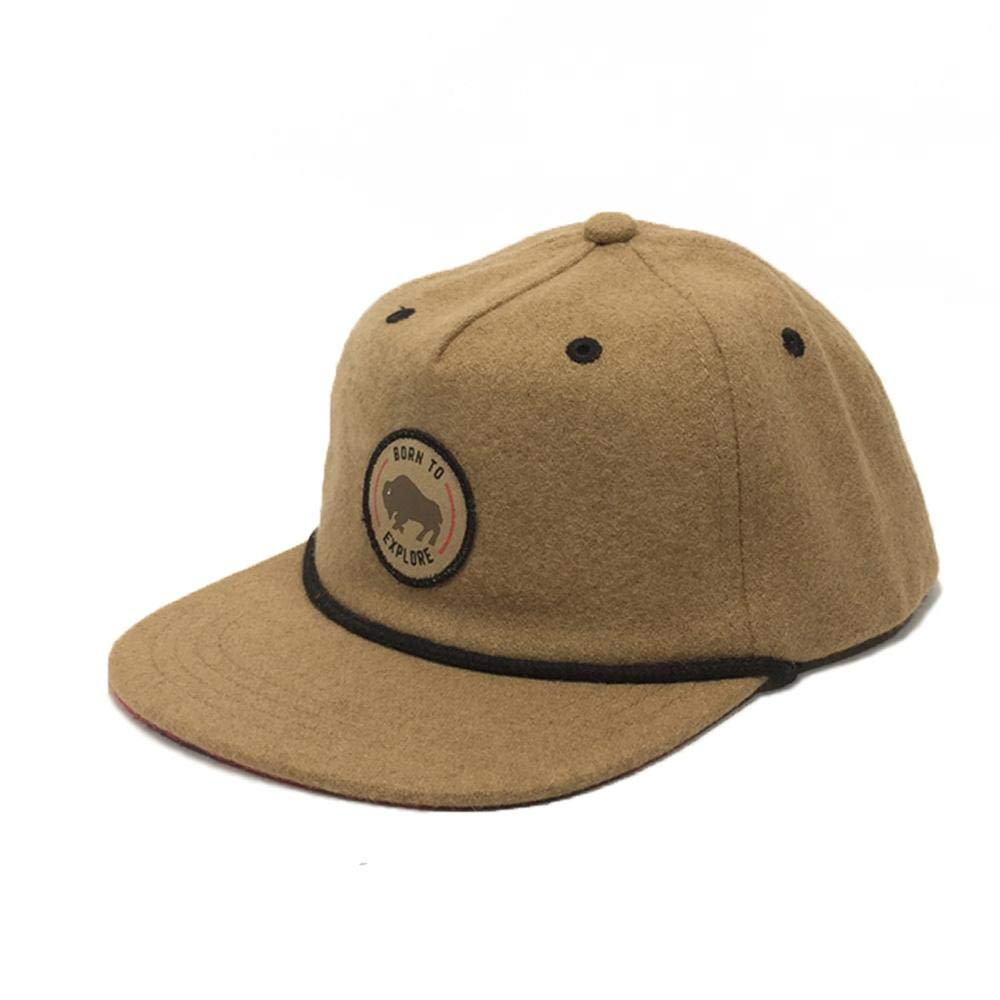 Kids Wool Born to Explore Hat Brown