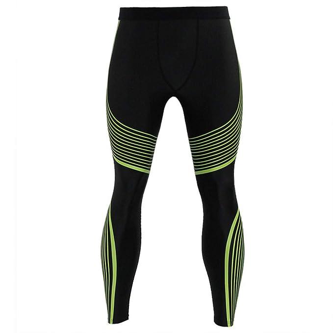 Gusspower Pantalones de Compresión Mallas Hombre Secado Rápido Transpirable Leggings Alta Elasticidad para Running, Yoga,Fitness