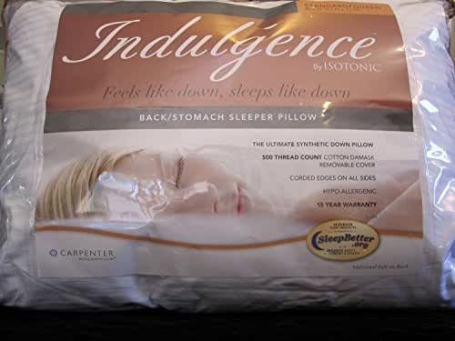 Indulgence Back/Stomach Standard/Queen Sleeper Pillow by Isotonic 28