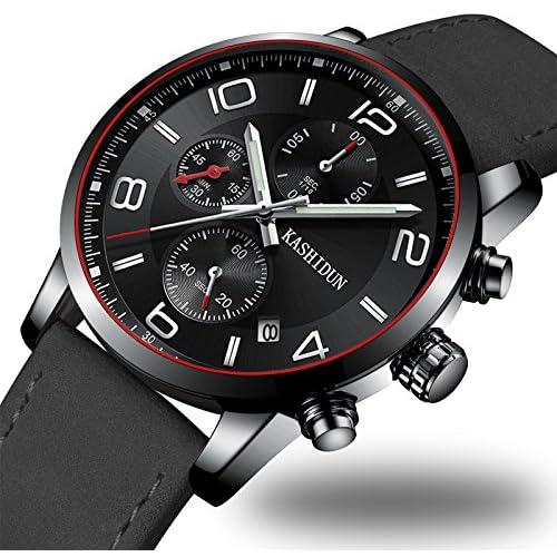 OLMECA Men's Watch Fashion Luxury Wrist Watches Analog Quartz Waterproof Chronograph Watch for Men Stainless Steel Strap Clock (Z 1)
