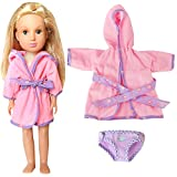 Design:With brand new and unique design, the barbie doll dress are made to fit well the 14 inch or 14.5 inch American Girl Wellie Wishers Doll (Likes the doll pictures showed)!!! The cloth was wrapped around an entire circle as a real little baby's c...