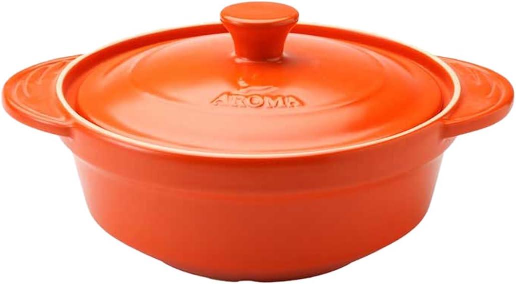 Aroma Housewares ADC-101OR DoveWare Stew Pot, 2.5 quart, Tangerine Orange
