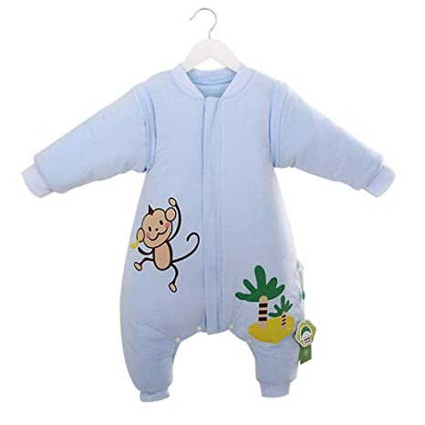 Gleecare Saco de Dormir para bebé,Mono de Dibujos Animados de algodón otoño e Invierno