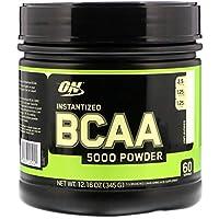 OPTIMUM NUTRITION Polvo BCAA Instantáneo, Sin Sabor, Polvo de Aminoácidos Esenciales de Cadena Ramificada Amigable para Keto, 5000 mg, 60 Porciones