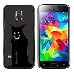Exotic-Star ( Cat Monster Demon Animal Black ) Fundas Cover Cubre Hard Case Cover para Samsung Galaxy S5 Mini / Samsung Galaxy S5 Mini Duos / SM-G800 !!!NOT S5 REGULAR!