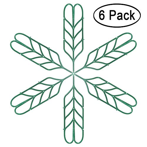 Aniann Garden Trellis for Mini Climbing Plants, Leaf Shape Potted Plant Support Vines Vegetables Vining Flowers Patio Climbing Trellises for Ivy Roses Cucumbers Clematis Pots Supports (6 Pack) by Aniann (Image #6)
