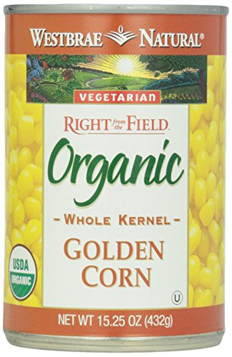 Westbrae Natural, Vegetarian Organic Golden Corn, Whole Kernel, 15.25 oz
