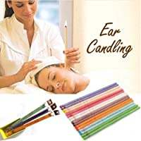 Demana 10 pcs Quicker Ear Candling Therapy Straight Style Ear Care Ear Candle Aromatherapy Indian Ear Candles Beeswax