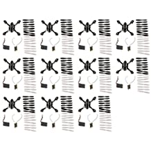 11 x Quantity of Hubsan X4 H107L Crash Pack H107-A37 Quadcopter Replacement Parts Propellers Blades Body Motors Battery Feet