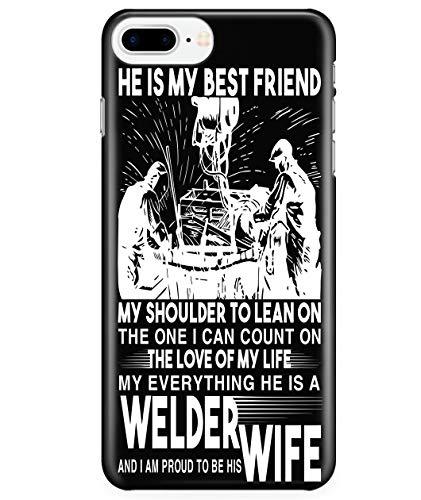 iPhone 7 Plus/7s Plus/8 Plus Case, Welder's Wife Case for Apple iPhone 7 Plus/7s Plus/8 Plus, He is A Welder iPhone Case (iPhone 7 Plus/7s Plus/8 Plus Case - Black)