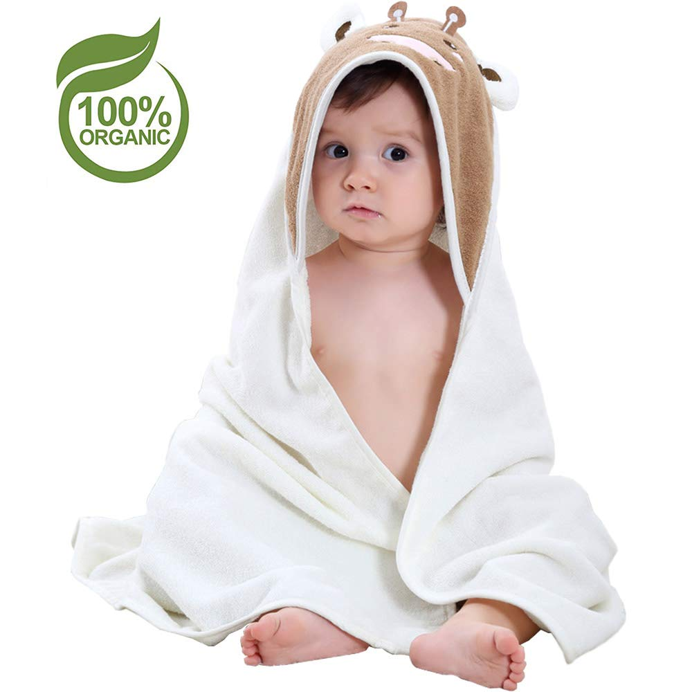 d6b6a05222 Amazon.com   Bamboo Baby Hooded Towel Kids Washcloth Soft Organic for Child  Boy   Girl by Diggold (White)   Baby