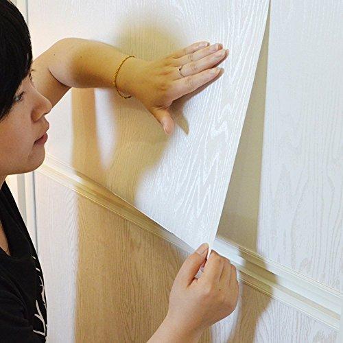 Vinilo autoadhesivo color blanco madera de grosor papel de contacto para gabinetes de cocina encimera armario estantes mesa escritorio aparador muebles artes y manualidades proyecto 60 x 200 cm MagicValley