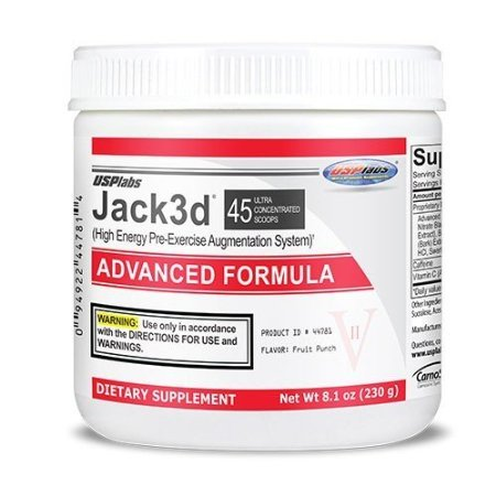 JACK 3D USP LABS - FRUIT PUNCH - 230 G