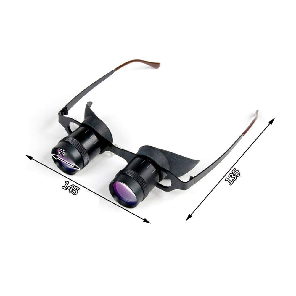 GaoJinZhuan Angelspiegel Multilayer Optische Linse 3 Mal Brille Fernglas Binocular Metallrahmen Fernglas Outdoor-Tools