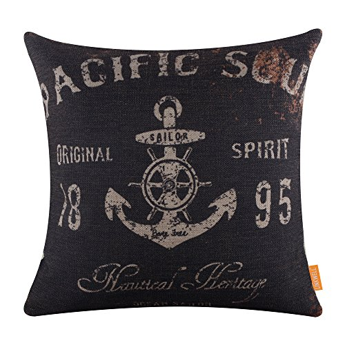 LINKWELL-18x18-Vintage-Marine-Anchor-Ship-Sea-Authentic-Burlap-Cushion-Covers-Pillow-Case
