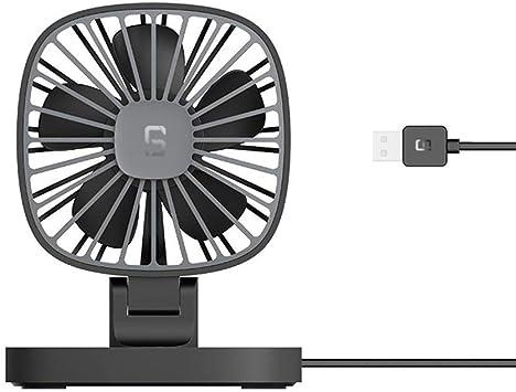FSCZHLK Ventilador Fan Nueva Guía de Coche Mini USB Pequeño Ventilador 12 v Coche 24 v Camión Grande Van Car Cooler 2019 Nueva Oficina de Viaje Ventilador Portátil Negro: Amazon.es: Deportes y