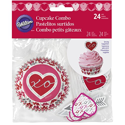 Wilton 415-5517 Valentine Baking Cups and Picks Set