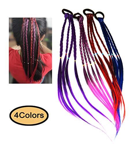ThEast Girls Hair Braider Twist Braid Rope Creative Rubber Band Hair Accessories Kids Wig (Braid-4colors)
