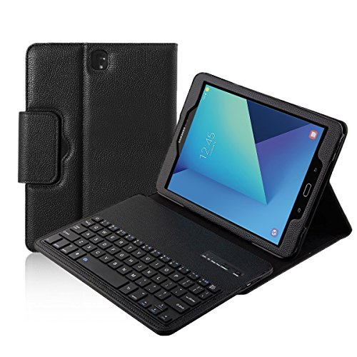 Galaxy Tab S3 9.7 Keyboard Case, Xboun Galaxy Tab S3 9.7 Case - Smart Shell Stand Feature with Removable Wireless Bluetooth Keyboard for Samsung Galaxy Tab S3 9.7-Inch Andriod Tablet (Black) (Tablet Samsung Case Black 3)