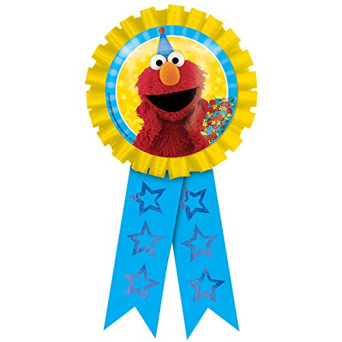 Amscan Confetti Pouch Award Ribbon   Sesame Street Collection   Party Accessory -
