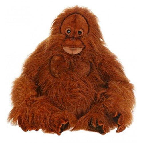 20.25'' Lifelike Handcrafted Extra Soft Plush Orangutan Stuffed Animal by Handcrafted Cuddlers