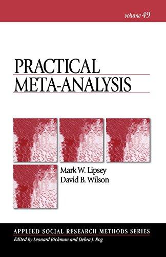 Practical Meta-Analysis (Applied Social Research Methods) (Applied Meta Analysis For Social Science Research)