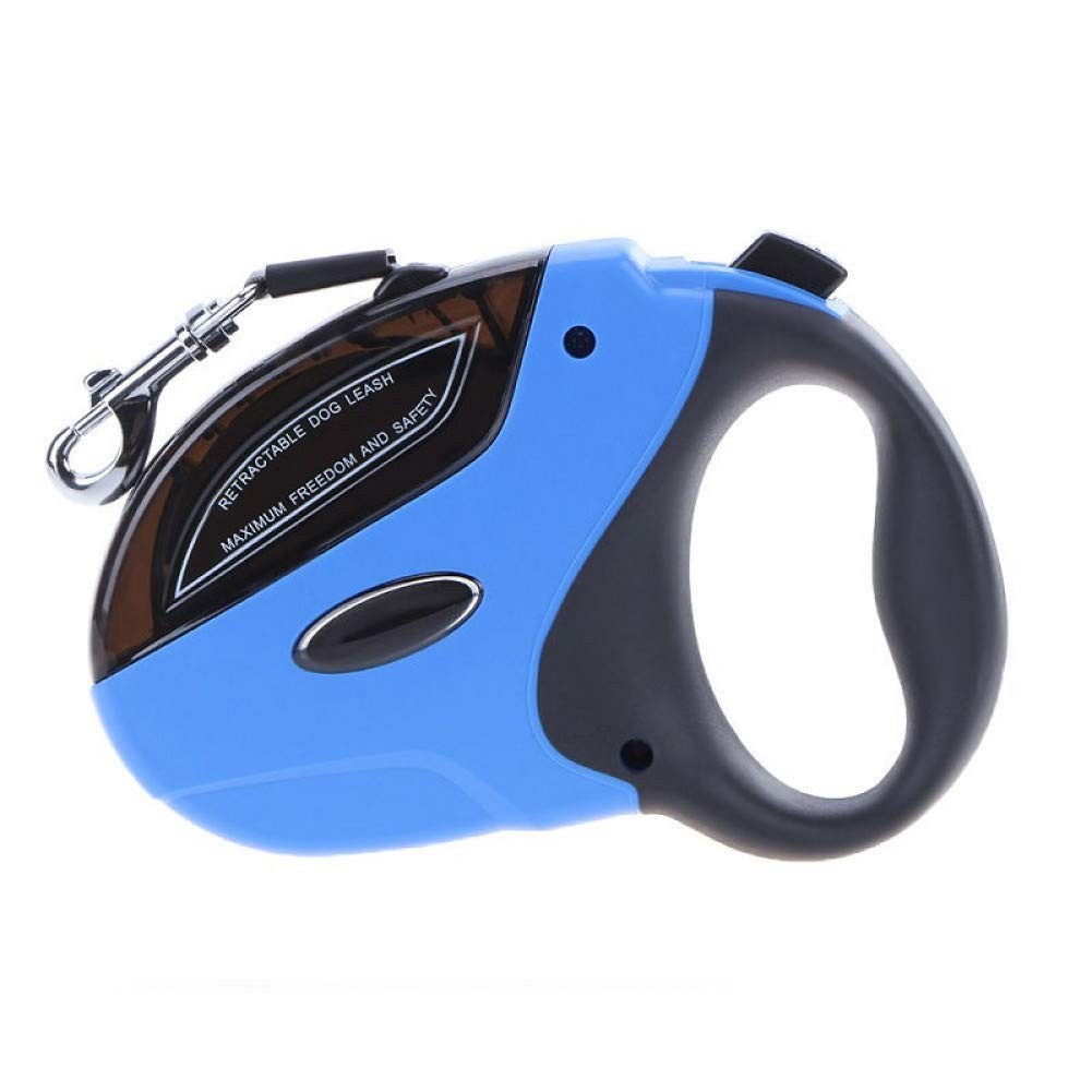 bluee XLGJCWQY Pet Leash 5M Large Retractable Dog Leash For Dogs Puppy Pet Lead Dog Collar Pet Traction Rope Chain Harness Goods For Pets Leash For Dogs