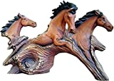 Driftwood Horses 8'' x 13'' Ceramic Bisque, Ready to Paint
