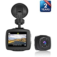 """2.5""""LCD HD 720P High Sensitivity Night Vision Dashboard Camera Recorder With Sony Exmor CMOS sensor,G-Sensor, Collision Detection,Parking Monitor,and Seamless Loop Recording(Free 8GB Micro SD Card)"""