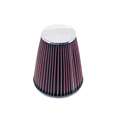 K&N Universal Clamp-On Air Filter: High Performance, Premium, Replacement Engine Filter: Flange Diameter: 3.25 In, Filter Height: 6.6875 In, Flange Length: 0.75 In, Shape: Round Tapered, RC-4470: Automotive