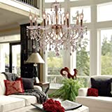 LightInTheBox Elegant Crystal Chandelier with 9 Lights, Modern Home Ceiling Light Fixture Flush Mount, Pendant Light Chandeliers Lighting