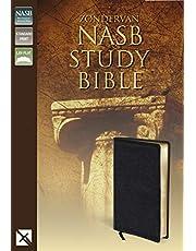 NASB, Zondervan NASB Study Bible, Bonded Leather, Black, Red Letter