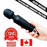 Spot on! mini wand massager, cordless rechargable wireless handheld Therapeutic neck and back deep tissue massage travel friendly for women (Black)
