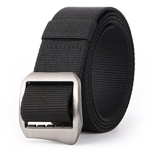 JASGOOD - Cinturón táctico para hombre con hebilla de metal, 01-173 Black 125, Pantalón de traje 36'-40'