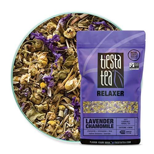 Tiesta Tea | Lavender Chamomile, Loose Leaf Soft Chamomile Herbal Tea | All Natural, Caffeine Free, Stress Relief, Relax, Sleep Tea, Calming | 8oz Bulk Bag - 200 Cups | Lavender Herbal Tea