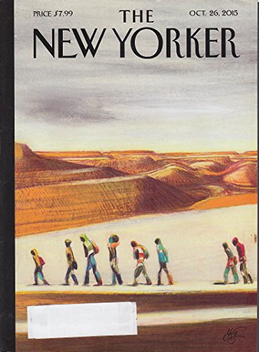 New Yorker cover Mattotti 10/26 2015 Refugees on the way across - Refuge Desert
