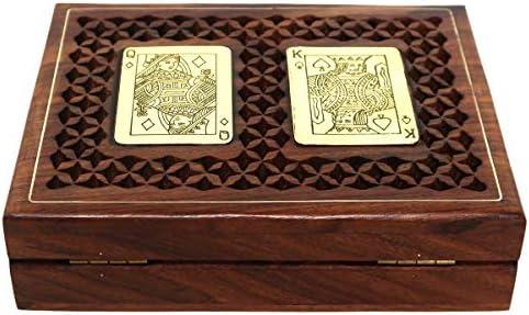ShalinIndia - Caja de Madera para 2 Barajas de Cartas (Aspecto ...