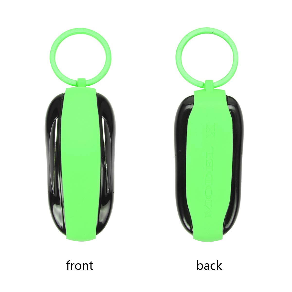 Black, Model S DeCuLo Key Fob Cover for Tesla Model S Silicone Car Key Cover Shell Protector Case Holder for Tesla S Accessories