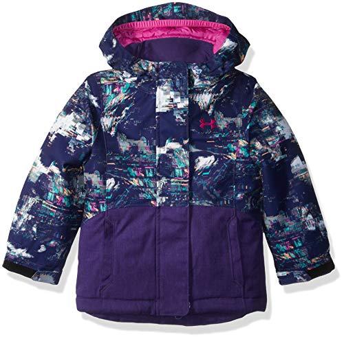 Under Armour Girls' Big ColdGear Snorkle Jacket, Purple nova, Small (7)