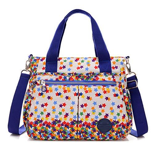 nylon Petit Chou à sac sac à à en main avec bandoulière stars à sac résistant amovible l'eau bandoulière bandoulière Colorful XXrBwq