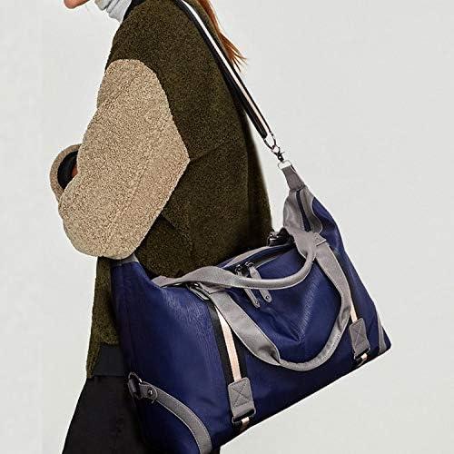 Lianlian Shoulder Bags Borsa Impermeabile in Tessuto Oxford di Corsa della Spalla del Sacchetto di Ginnastica di Sport Borsa (Nero) (Colore : Black) Blue