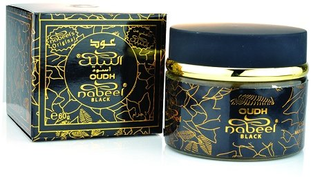 Oudh Nabeel Black Incense (Formerly Oudh Etisalbi) - 60gms by Nabeel- 4 pack